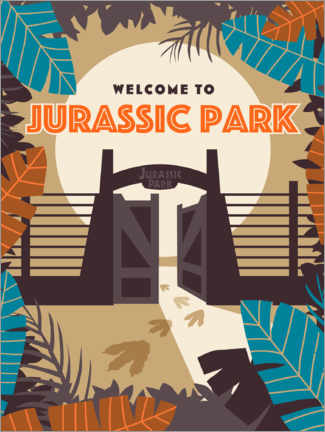 Poster Premium  Welcome to Jurassic Park