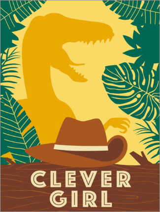 Poster Premium  Clever Girl