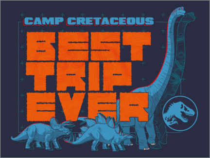 Poster Premium Camp Cretaceous - Best trip ever