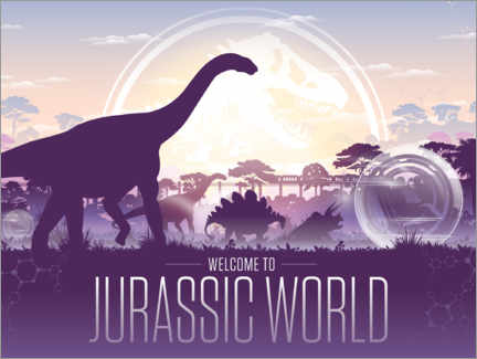 Poster Premium  Welcome to Jurassic World