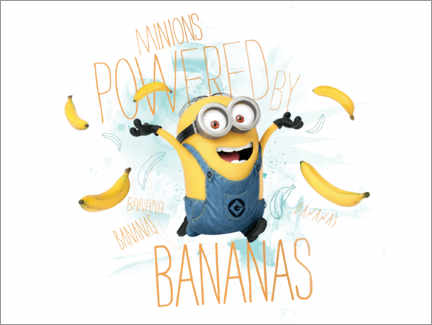 Stampa su tela  Minions - Banana Power