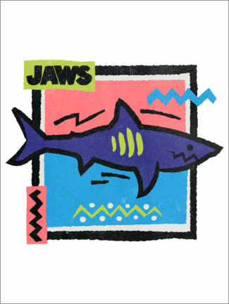 Poster Premium  Jaws (Lo squalo), Pop Art
