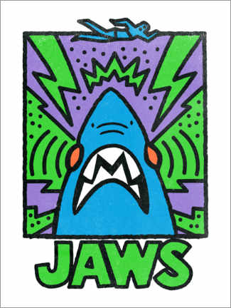 Poster Premium  Jaws (Lo squalo) - stile Keith Haring II