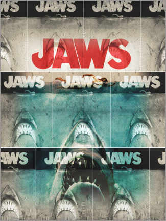 Poster Premium  Jaws (Lo squalo), collage