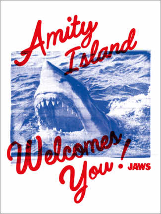 Poster Premium  Amity Island Welcomes You!
