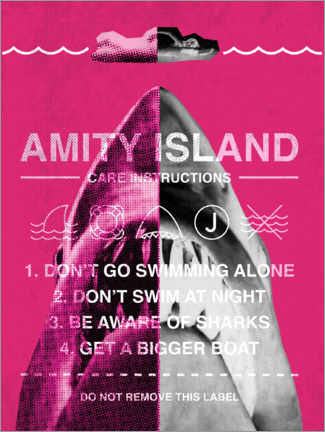 Poster Premium  Amity Island - Care instructions
