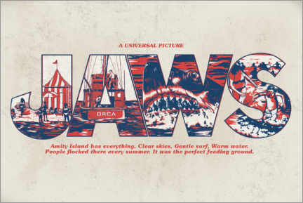 Poster Premium  Jaws - Perfect feeding ground