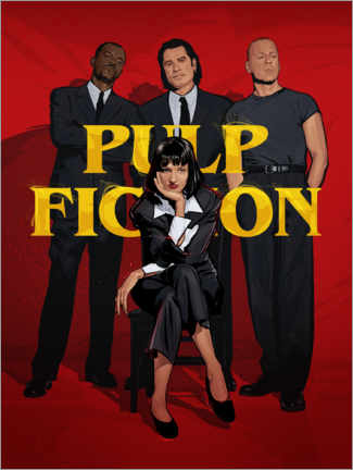 Poster Premium Gang di Pulp Fiction