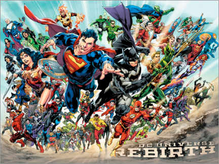 Poster Premium  Justice League Rebirth