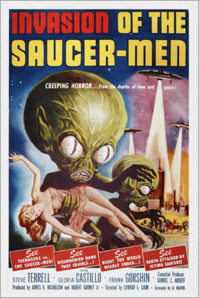 Poster Premium  Invasion of the Saucer men - Entertainment Collection