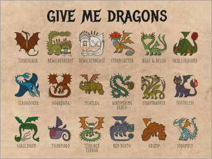 Stampa su tela  Give me dragons