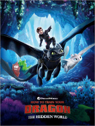 Poster Premium The Hidden World - Dragon Trainer (Il mondo nascosto)