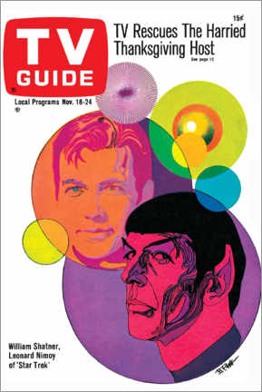 Stampa su tela  Star Trek - Copertina retrò 1967 - TV Guide