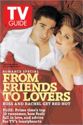 Poster Premium Ross and Rachel - Friends to lovers