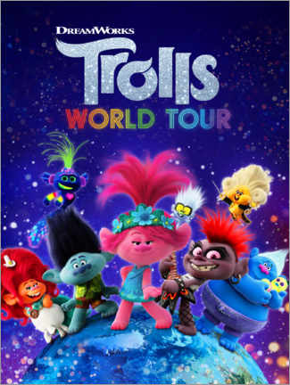 Stampa su alluminio  Trolls World Tour