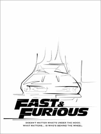 Stampa su alluminio  Doesn't matter what's under the hood (Fast & Furious)