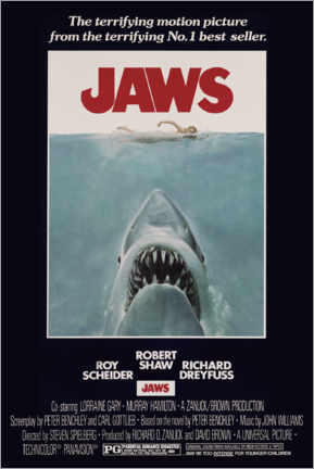 Poster Premium  Jaws - Retro Advertise