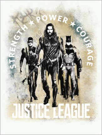Stampa su PVC  Aquaman - Justice League Power