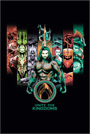 Poster Premium  Aquaman - Unite The Kingdoms