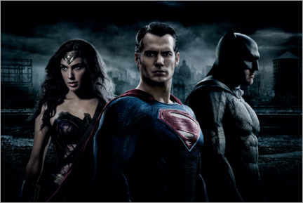 Stampa su PVC  Batman v Superman - Wonder Woman