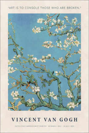 Poster Premium  Van Gogh - Art is to console - Museum Art Edition