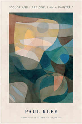 Stampa su tela  Paul Klee - Color and I - Museum Art Edition