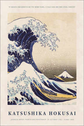 Poster Premium  Hokusai - Five more years - Museum Art Edition