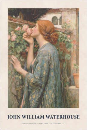 Poster Premium  John William Waterhouse - The Soul of the Rose - Museum Art Edition