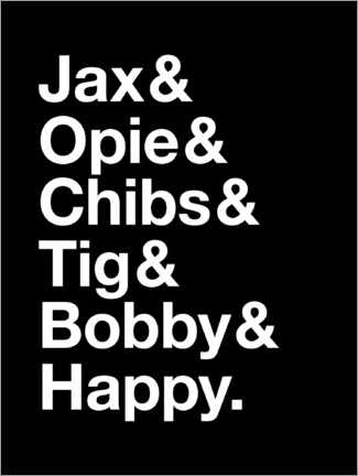 Poster Premium Sons Of Anarchy - Names