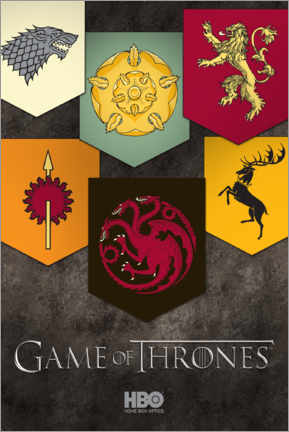 Poster Premium  Game of Thrones - Houses emblems