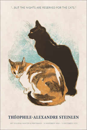 Stampa su plexi-alluminio  Théophile-Alexandre Steinlen - Reserved for the cats - Museum Art Edition