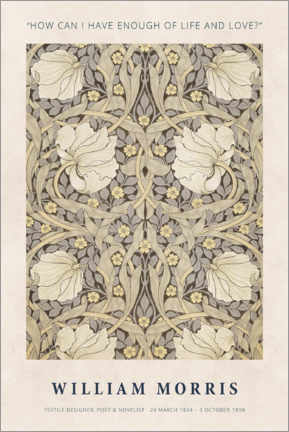 Poster Premium  William Morris - Life and love - Museum Art Edition