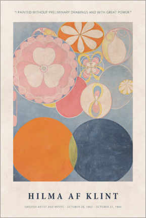 Poster Premium  Hilma af Klint - With great power - Museum Art Edition