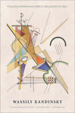 Stampa su legno  Wassily Kandinsky - Colour is a power - Museum Art Edition