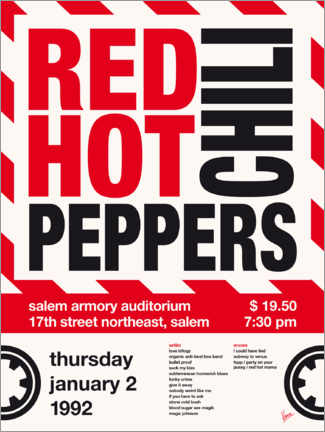 Poster Premium Red Hot Chili Peppers Concert Poster