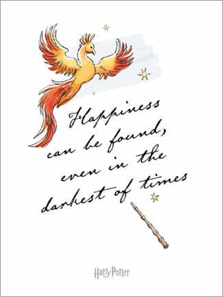 Poster Premium Happiness can be found - Harry Potter Quote