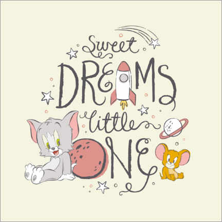 Poster Premium Tom & Jerry - Sweet dreams little one