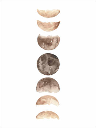 Poster Premium Moon phases watercolor