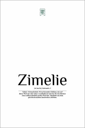 Poster Premium  Beautiful words - Zimelie (German) - Sprachschatztruhe