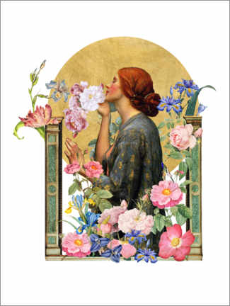 Poster Premium The Soul of the Rose - Collage