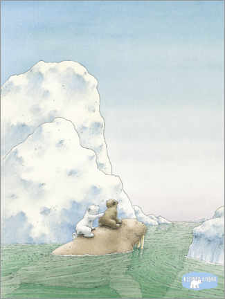 Poster Premium  The little polar bear - adventure with the walrus