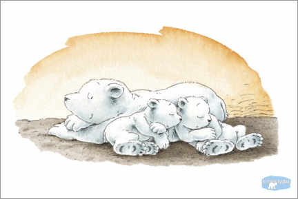 Stampa su PVC  The little polar bear Lars is dreaming