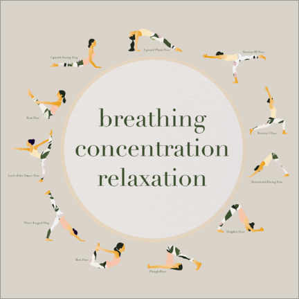 Stampa su PVC  Yoga - breathing concentration relaxation