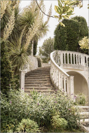 Stampa su vetro acrilico  French Vintage Garden Steps In The South Of France - Henrike Schenk