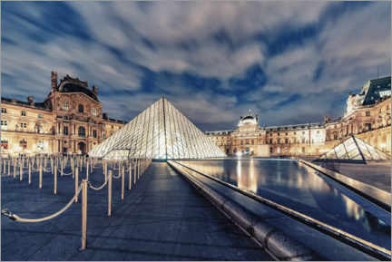 Poster Premium  The Louvre by night - Manjik Pictures