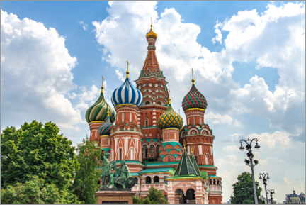 Poster Premium  St. Basil's Cathedral in Moscow III - HADYPHOTO