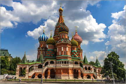 Poster Premium  St. Basil's Cathedral in Moscow II - HADYPHOTO