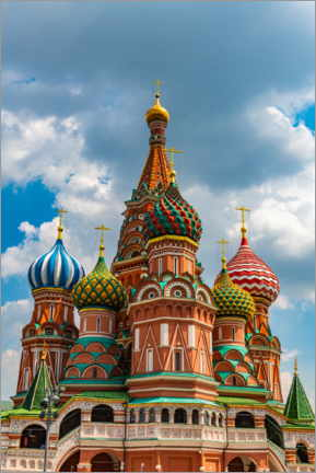 Poster Premium  St. Basil's Cathedral in Moscow 1 - HADYPHOTO