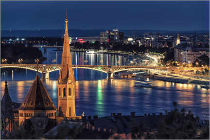 Poster Premium  Budapest by night - Manjik Pictures