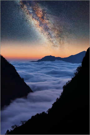 Poster Premium  The Himalayas in the evening - Manjik Pictures